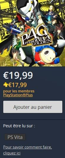 Persona 4 golden psn