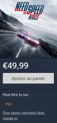 Need for Speed Rivals promo ps store 18.04.2014