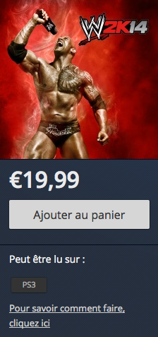 WWE 2K14 PlayStation Store