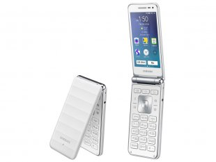 Samsung Galaxy Folder 2015 flip phone blanc