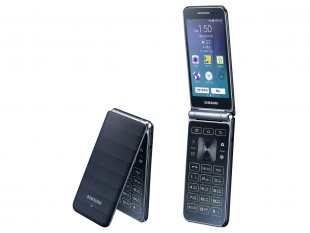Samsung Galaxy Folder 2015 flip phone bleu marine