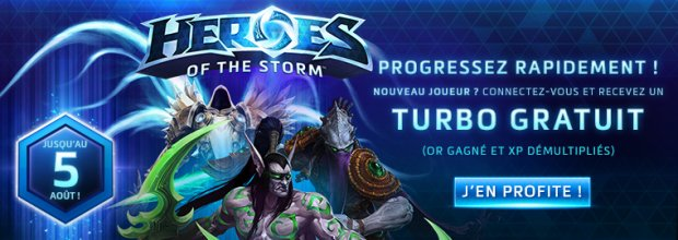 Heroes of the Storm Turbo Gratuit Offert