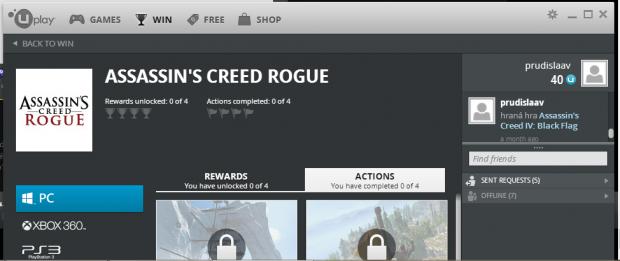 assassins creed rogue uplay pc