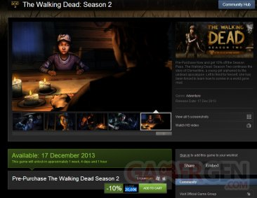 the walking dead steam annonce date