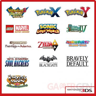 planning sorties nintendo 3DS 2013