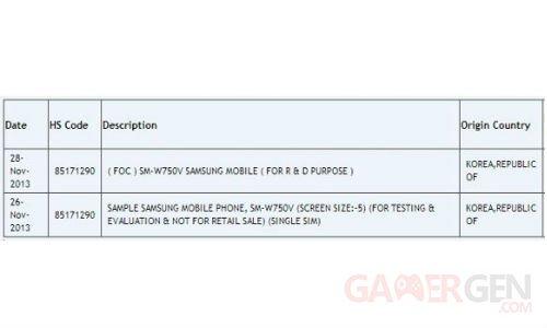 Tableau Samsung SM-W750V