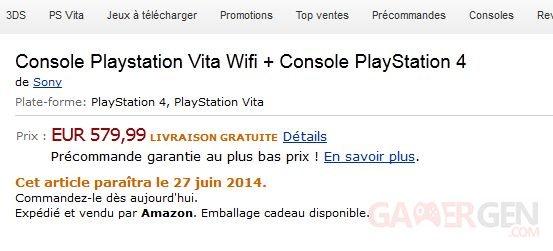 PS4 PSVita pack bunle 08.05.2014