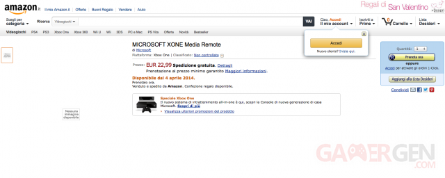 Amazon Italy te?le?commande Xbox One