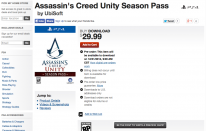 Assassin s creed unity season pass PS4