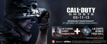 call of duty ghosts bonus précommande micromania