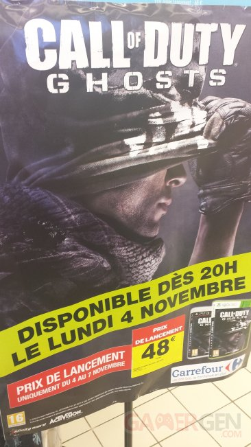 Call of duty ghosts carrefour promo