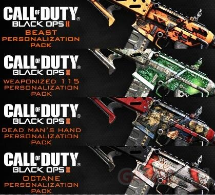 call of duty ghosts dlc skins armes