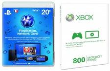 Carte PSN Point Microsoft 30.10.2013.