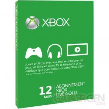 carte xbox live gold 12 mois
