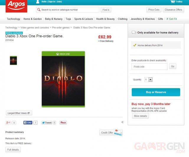 Diablo III Xbox One