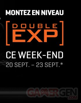 double xp call of duty black ops II 20 sep 2013
