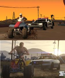 GTA V comparaison San Andreas images 06