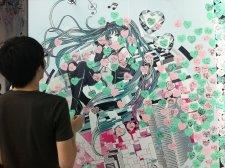 Hatsune Miku Sega reportage event Japon Tokyo cafe 17.07.2013 (4)