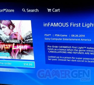 infamous first light screenshot release date