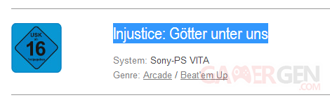 injustice gods among us psvita usk classification