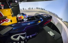 Jann Mardenborough tries out the Infiniti Red Bull Racing driver development simulator