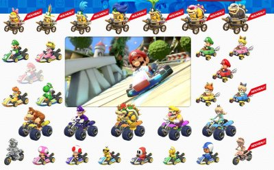 mario kart 8 la liste des personnages et des circuits gamergen com. Black Bedroom Furniture Sets. Home Design Ideas