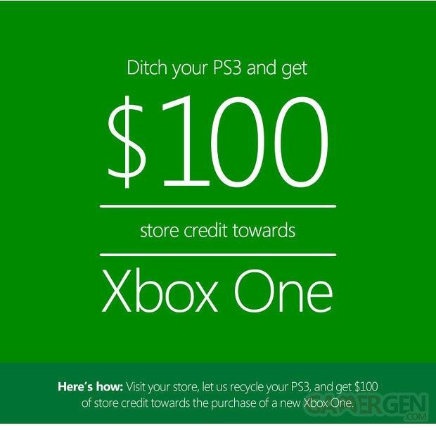 microsoft reprise PS3 Xbox one