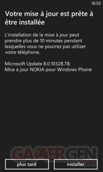 Mise à jour Windows Phone. prete installerjpg