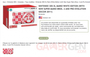 Nintendo 3DS XL Mario White Edition 3