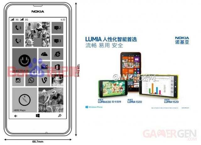 Nokia Lumia 630 chine