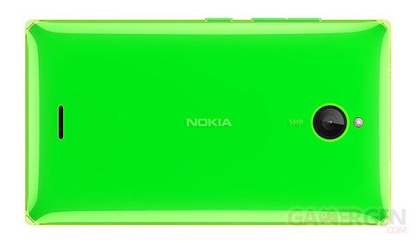 Nokia X2 Bright Green Back