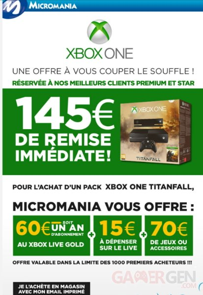 Offre micromania xbox one titanfall 1