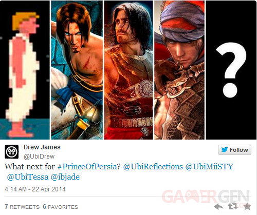 Prince of Persia Twitter Ubisoft