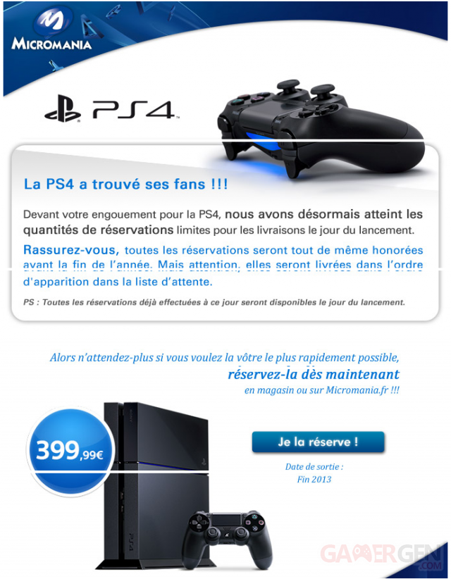 ps4 penuerie micromania