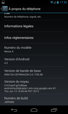 Screen_Android-4.3.0-Jelly-Bean_Numero-version-build