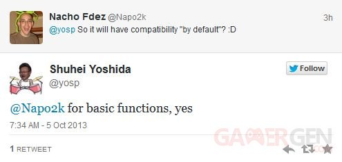 Shuhei Yoshida twitter dualshock 4 05.10.2013
