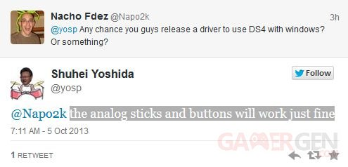 Shuhei Yoshida twitter dualshock 4 1 05.10.2013