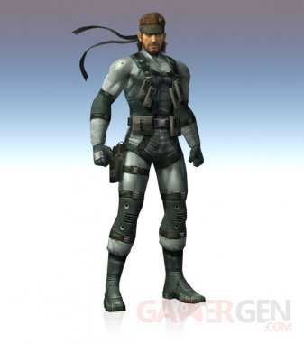 super smash bros brawl melee solid snake 02