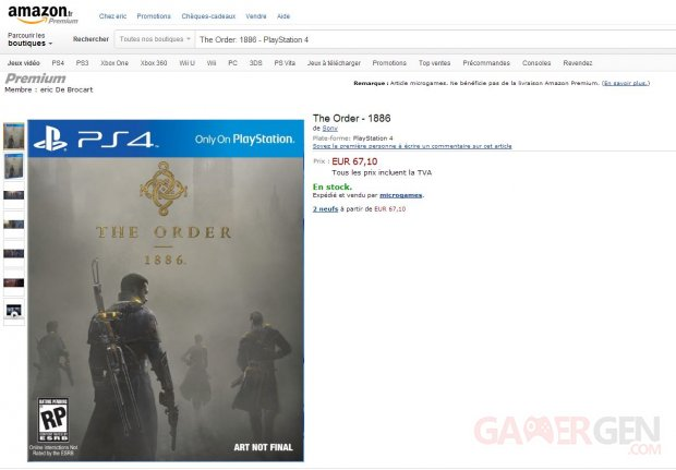 The Order- 1886 - Microgames Stock