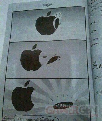 Troll de la semaine Apple Samsung