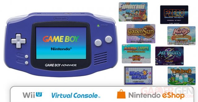 Wii U Console Virtuelle GBA eShop