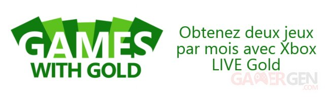 Xbox live games with gold banniere