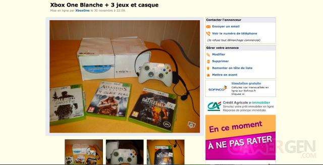 Xbox One blanche leboncoin