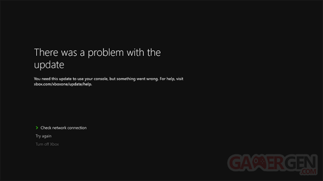 Xbox One erreur mise à jour