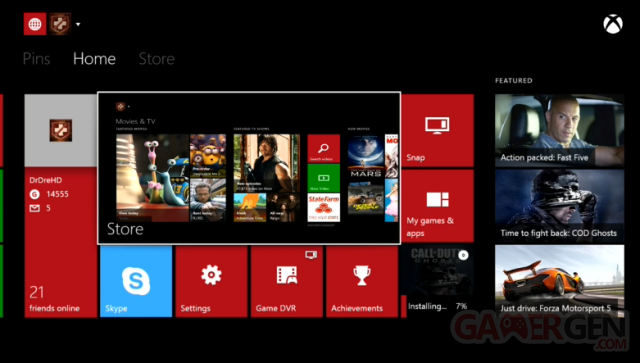 Xbox One Screens dashboard 4