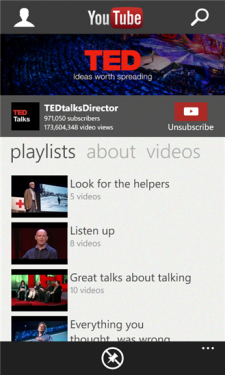 Youtube Windows Phone app 3