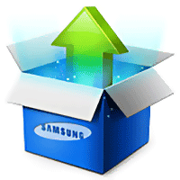 logo Samsung box update maj mise a jour package