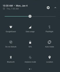 Android N Preview Quicksettings