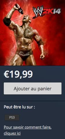 WWE 2K14 PlayStation Store