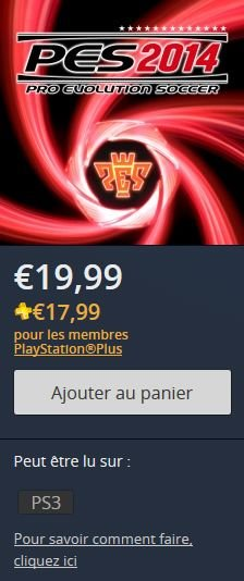 PES 2014 ps store